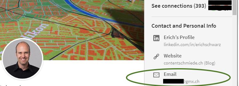 LinkedIn-Profil, wie es ein Kontakt sieht
